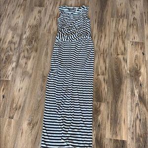 Victoria's Secret striped maxi dress